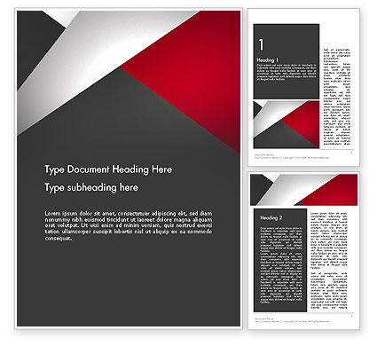 Abstract Cut Out Word Template