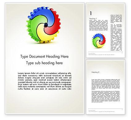 Integration Word Template, 14084, Business Concepts — PoweredTemplate.com