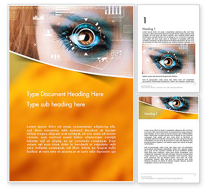 Eye Tracking Word Template, 14085, Technology, Science & Computers — PoweredTemplate.com