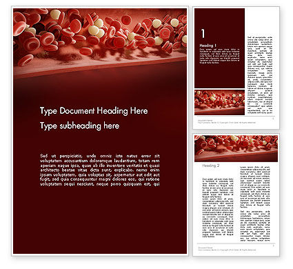 Cord Blood Word Template, 14087, Medical — PoweredTemplate.com