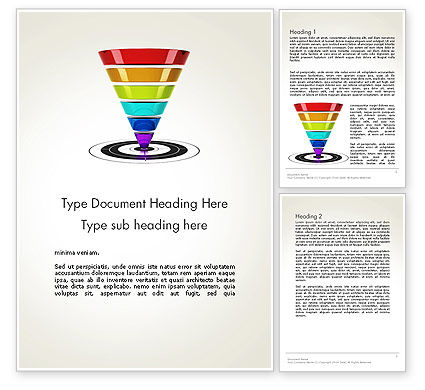 Conversion Funnel Word Template, 14093, Careers/Industry — PoweredTemplate.com