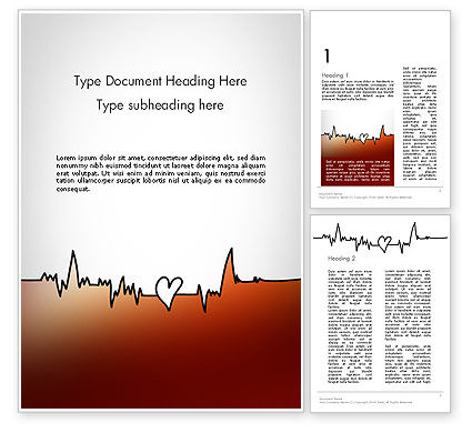 Love Heartbeat Word Template, 14094, Holiday/Special Occasion — PoweredTemplate.com