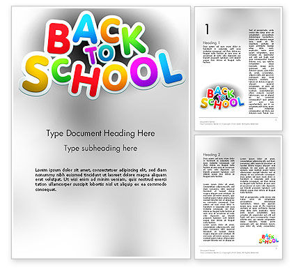 Welcome Back To School Word Template