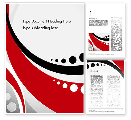 Abstract/Textures: Red Black Wave Pattern Word Template #14104
