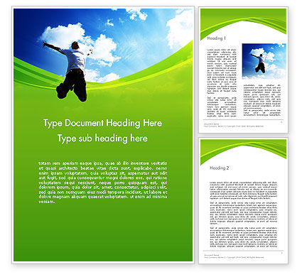 People: Jump Into the Sky Word Template #14112