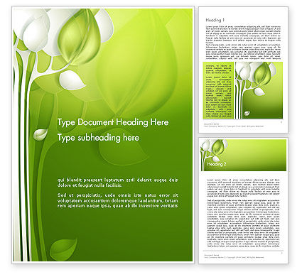 Abstract Paper Tree Word Template, 14120, Nature & Environment — PoweredTemplate.com