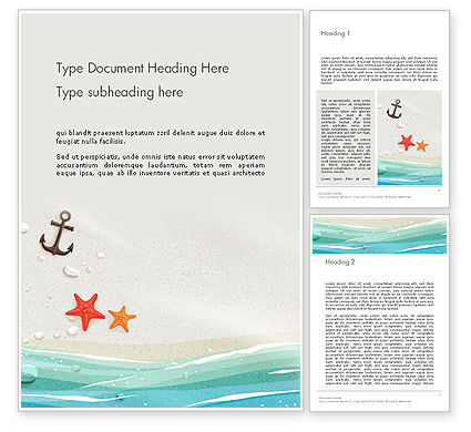 Seacoast Word Template, 14124, Holiday/Special Occasion — PoweredTemplate.com