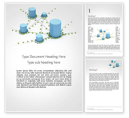 Digital Analytics Word Template, 14125, 3D — PoweredTemplate.com