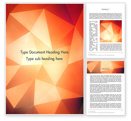 Abstract/Textures: Geometric Polygons Abstract Word Template #14130