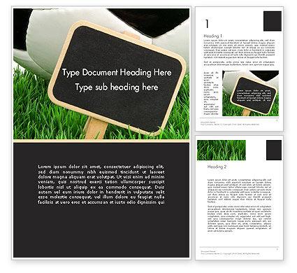 Soccer School Word Template, 14132, Sports — PoweredTemplate.com