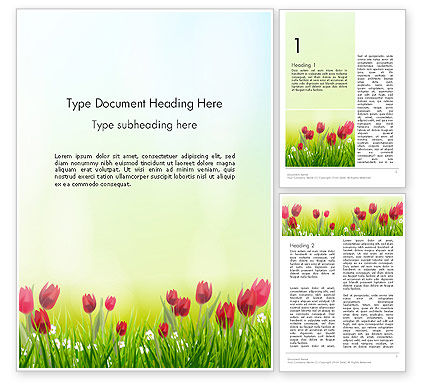 Flower Field Word Template