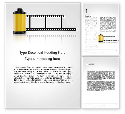 Careers/Industry: Camera Film Roll Word Template #14143