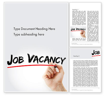 Careers/Industry: Job Vacancy Word Template #14146