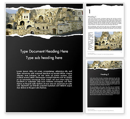 Cave City Word Template, 14154, Construction — PoweredTemplate.com