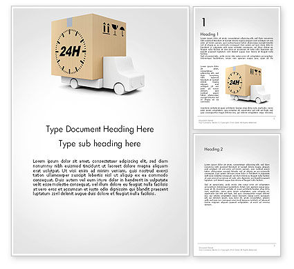 Cars/Transportation: Delivery Van Word Template #14156