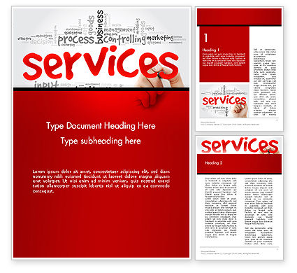 Developing a Perfect Services Word Template, 14160, Careers/Industry — PoweredTemplate.com