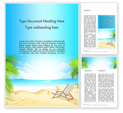 Sunny Beach Vacation Word Template