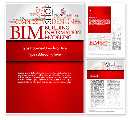 Careers/Industry: BIM Word Cloud Word Template #14170