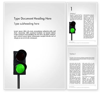 Green Railroad Traffic Light Word Template, 14177, Cars/Transportation — PoweredTemplate.com