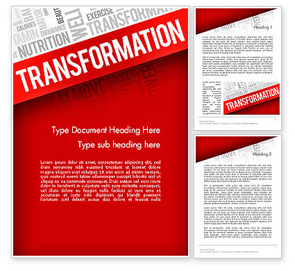 Sports: Transformation Word Cloud Word Template #14183