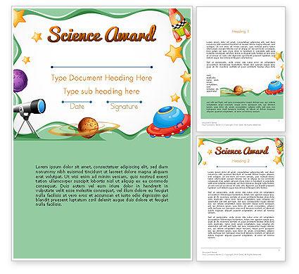 Education & Training: Science Award Sertificate Word Template #14193