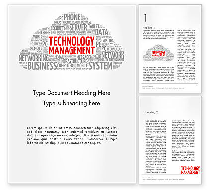 Careers/Industry: Technology Management Word Cloud Word Template #14207