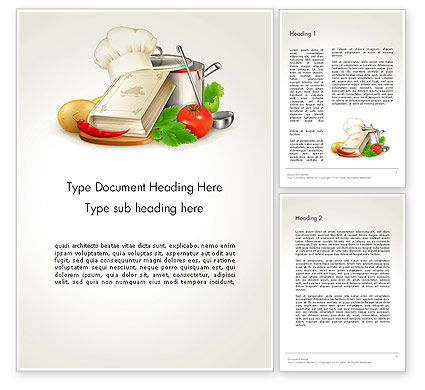 Cookbook Word Template, 14209, Careers/Industry — PoweredTemplate.com