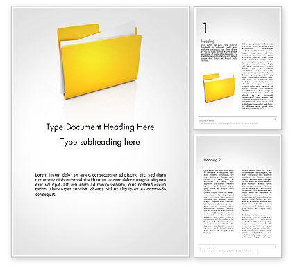 Document Folder Word Template, 14226, Business — PoweredTemplate.com