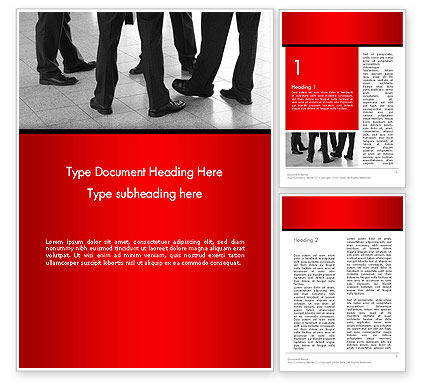 Business People Standing Word Template, 14234, Business — PoweredTemplate.com