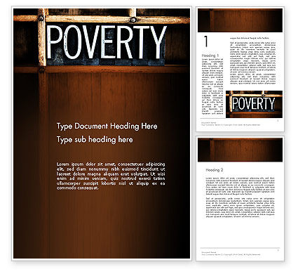 Word Poverty Word Template, 14256, General — PoweredTemplate.com