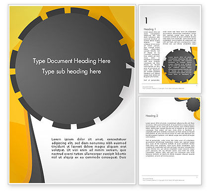 Business: Cogwheel Concept Word Template #14259