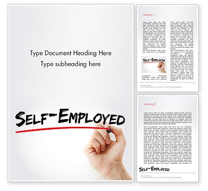Hand Writing Self-Emplyed with Marker Word template