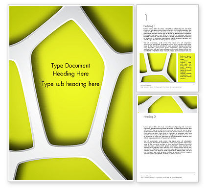 Organic Geometry Word Template, 14284, Nature & Environment — PoweredTemplate.com