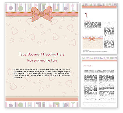 Baby Shower Invitation Word Template, 14302, Holiday/Special Occasion — PoweredTemplate.com