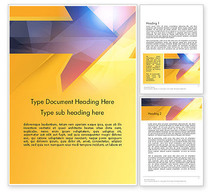 Two Arrows Pointing at Each Other Abstract Word Template, 14304, Business Concepts — PoweredTemplate.com