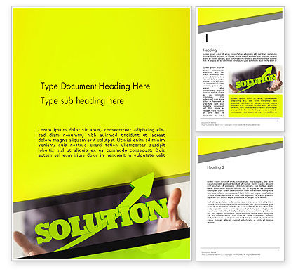 Business Concepts: Arrow Solution Word Template #14308