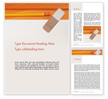 Education & Training: Eraser and Pencil Word Template #14316