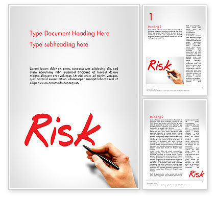 Hand Writing Risk Word Template, 14317, Business Concepts — PoweredTemplate.com