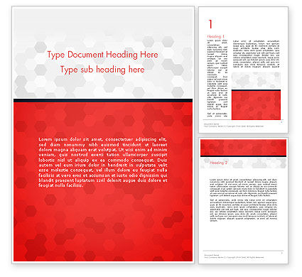 Abstract/Textures: Hexagon Pattern Abstract Word Template #14325