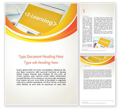 E-Learning Student Study Online Word Template