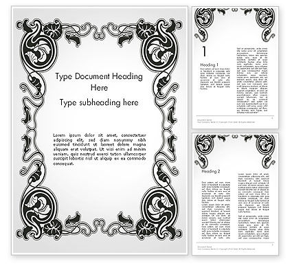 Abstract/Textures: Vintage Baroque Victorian Frame Word Template #14340