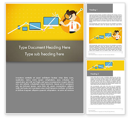 Reporting Analyst Word Template, 14350, Financial/Accounting — PoweredTemplate.com