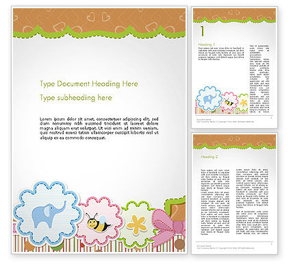 Holiday/Special Occasion: Cute Baby Shower Invitation Word Template #14355