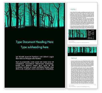 Nature & Environment: Deadwood Silhouette Word Template #14365