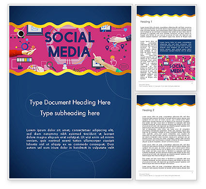 Social Media Technology Innovation Concept Word Template, 14370, Careers/Industry — PoweredTemplate.com