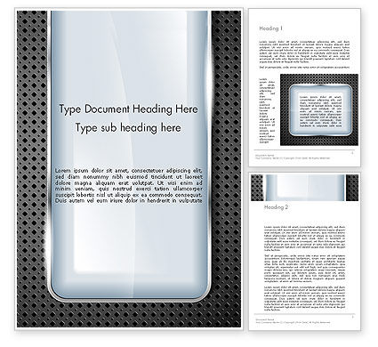 Abstract/Textures: Perforated Metallic Surface with Plate Abstract Word Template #14377