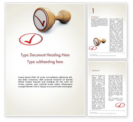 Checked Rubber Stamp Word Template, 14378, Business Concepts — PoweredTemplate.com