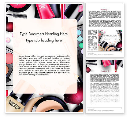 Sets of Cosmetics Word Template, 14390, Careers/Industry — PoweredTemplate.com