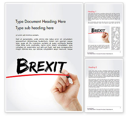 Hand Writing Brexit with Marker Word Template, 14419, General — PoweredTemplate.com