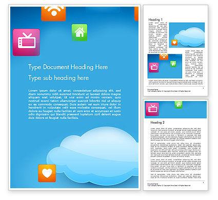 Hybrid Cloud Storage Word Template, 14433, Technology, Science & Computers — PoweredTemplate.com